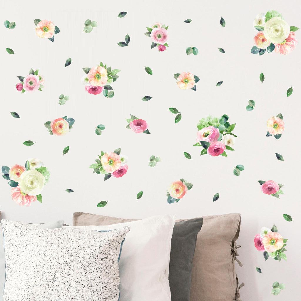 Garden Watercolour Flower Theme Pack, wall decals by Made of Sundays