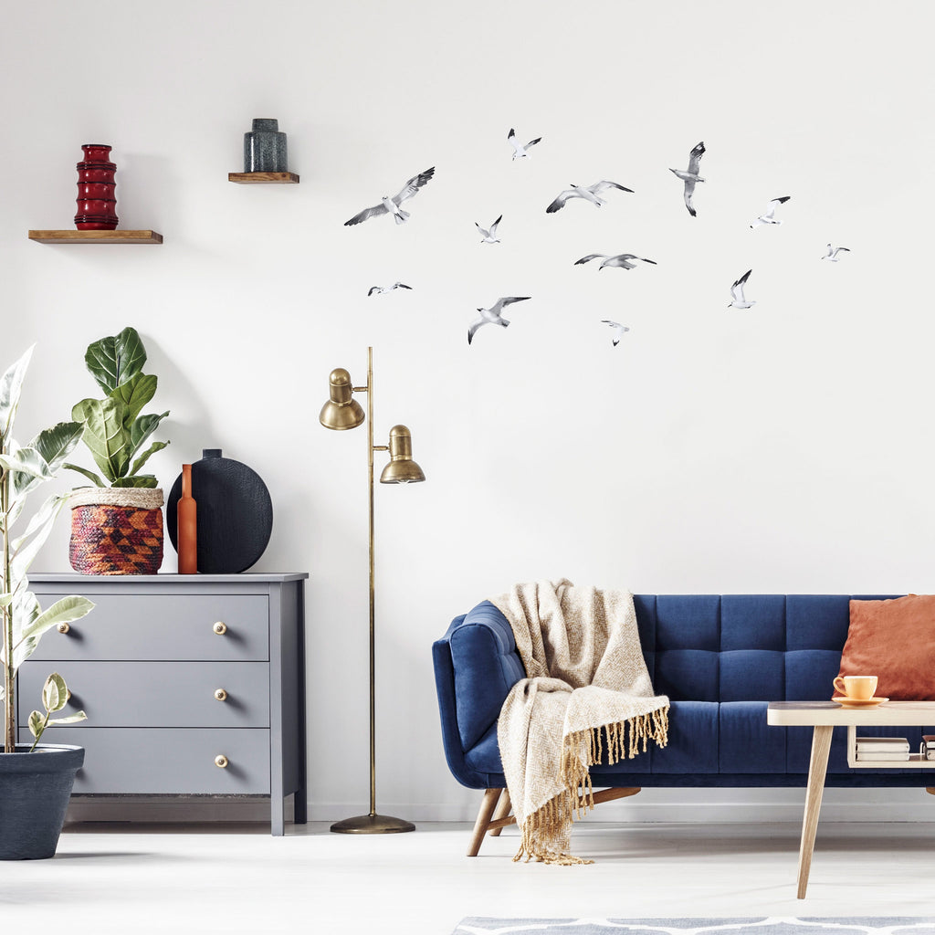 Seagulls Watercolour Wall Stickers, wall decals by Made of Sundays
