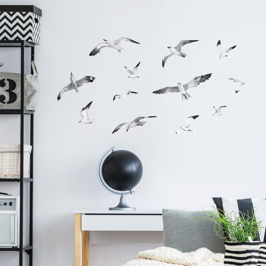 Seagulls & Clouds Wall Sticker Themepack, wall decals by Made of Sundays