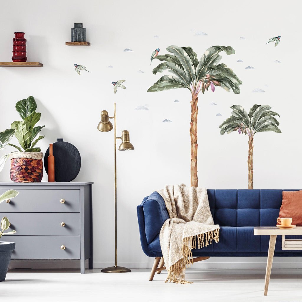 Jungle Palm Trees Wall Stickers, wall decals by Made of Sundays