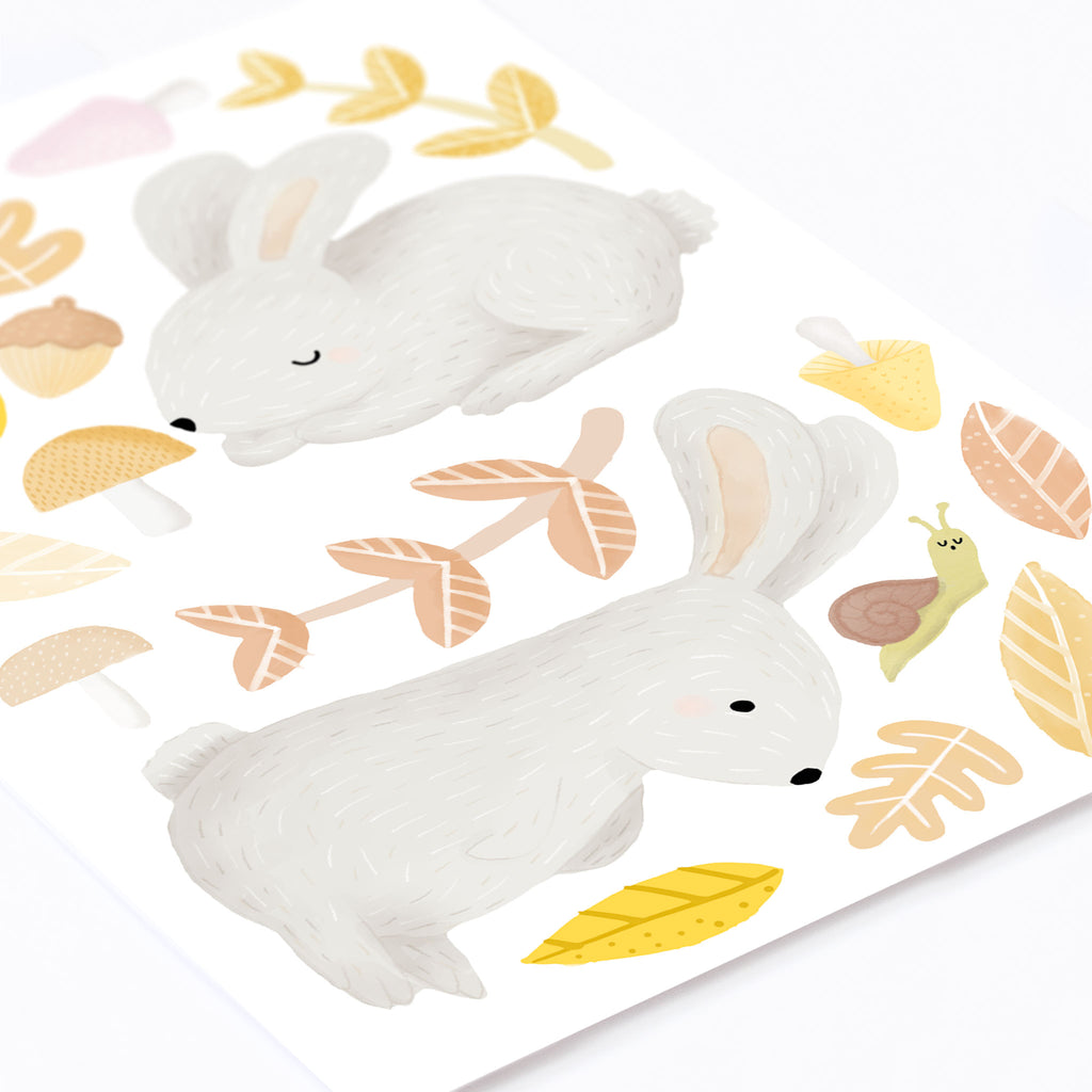 Woodland Bunnies, Wall Stickers, wall decals by Made of Sundays