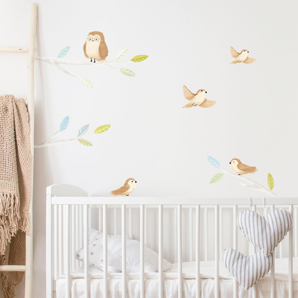 Woodland Spring Birds Wall Stickers, wall decals by Made of Sundays