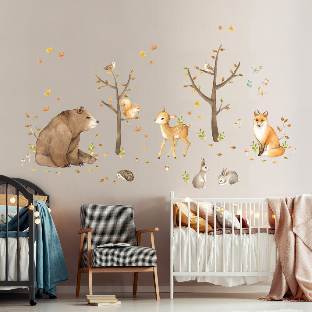 Forest Friends Theme Pack, wall decals by Made of Sundays