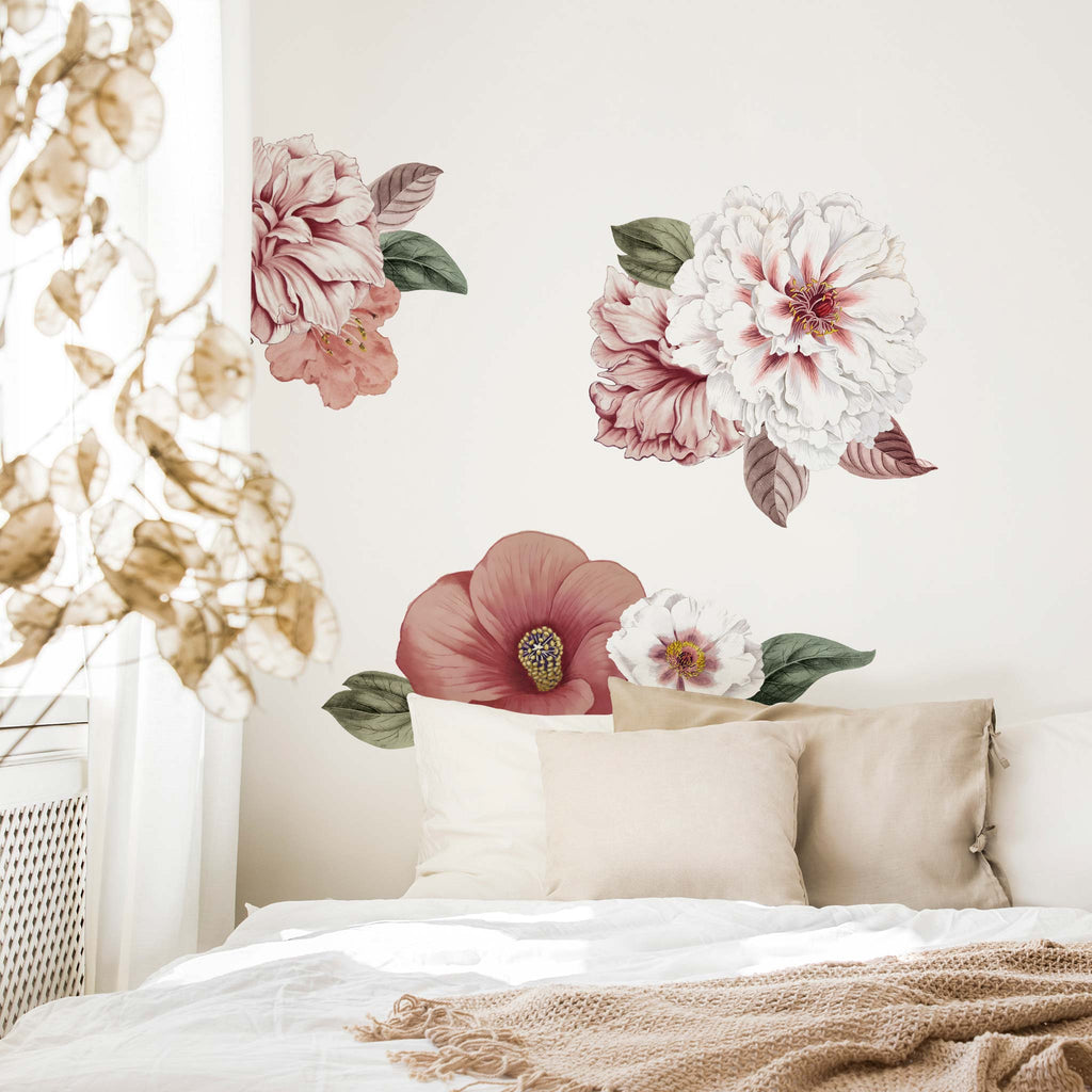 Big Vintage Florals Wall Stickers, wall decals by Made of Sundays