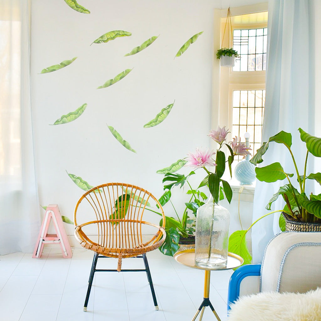 Wall Palm, Banana leafs, Wallpaper Sticker - Made of Sundays