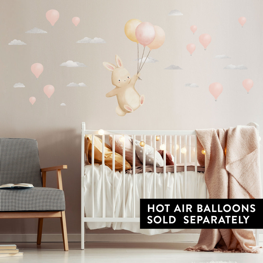 Floating Bunny Wall Sticker