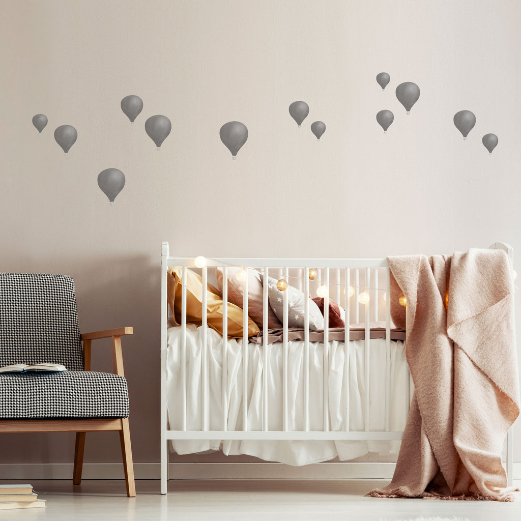 Watercolour Hot Air Balloon Wall Stickers, wall decals by Made of Sundays