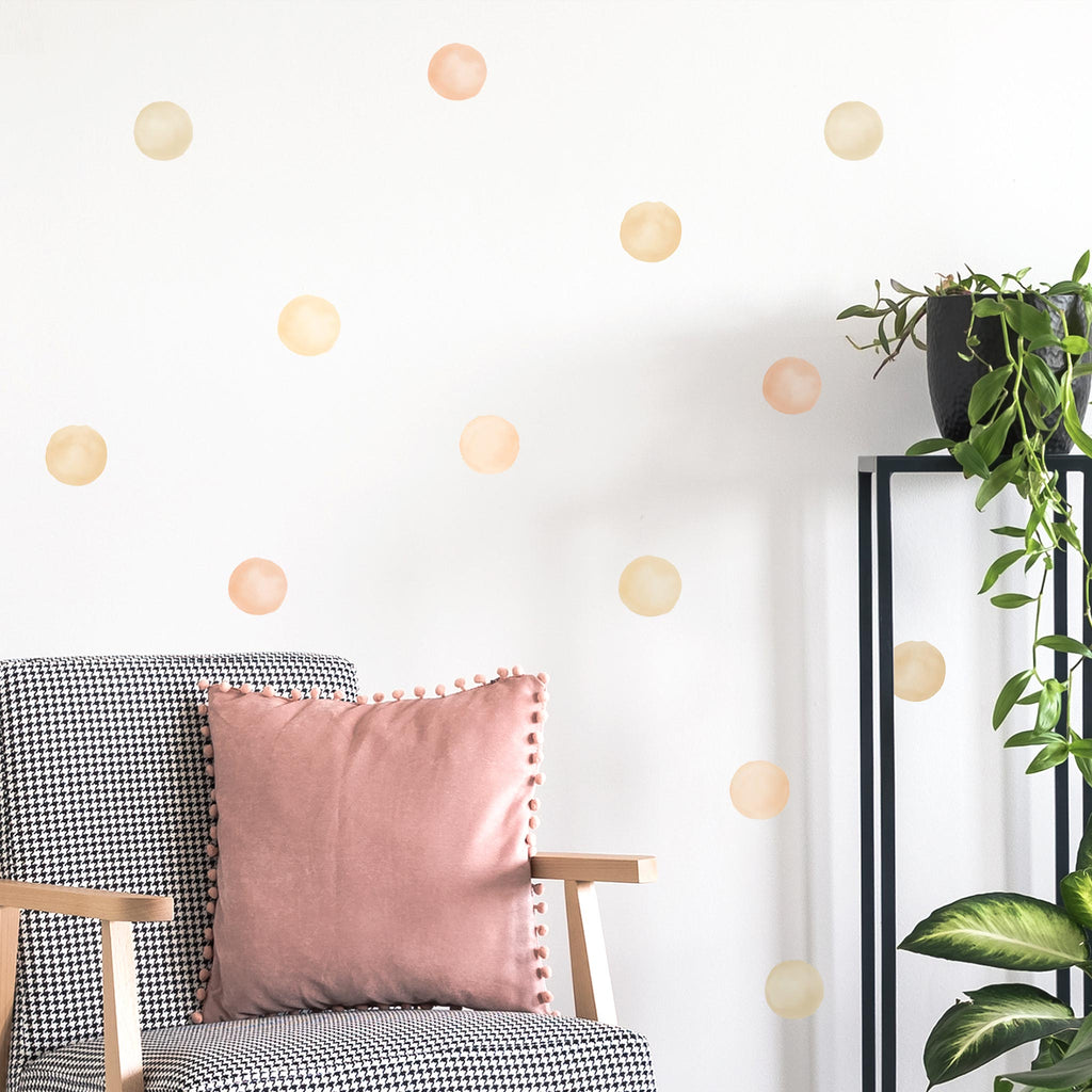 Boho Mix Watercolour Polka Dot Wall Stickers, 6 cm, wall decals by Made of Sundays