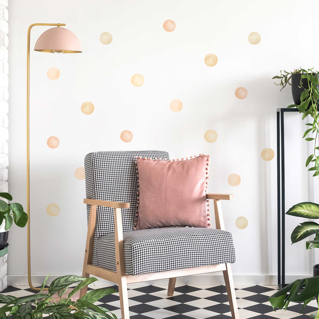 Watercolour Polka Dot Wall Stickers Home Decor For Happy Homes Made Of Sundays