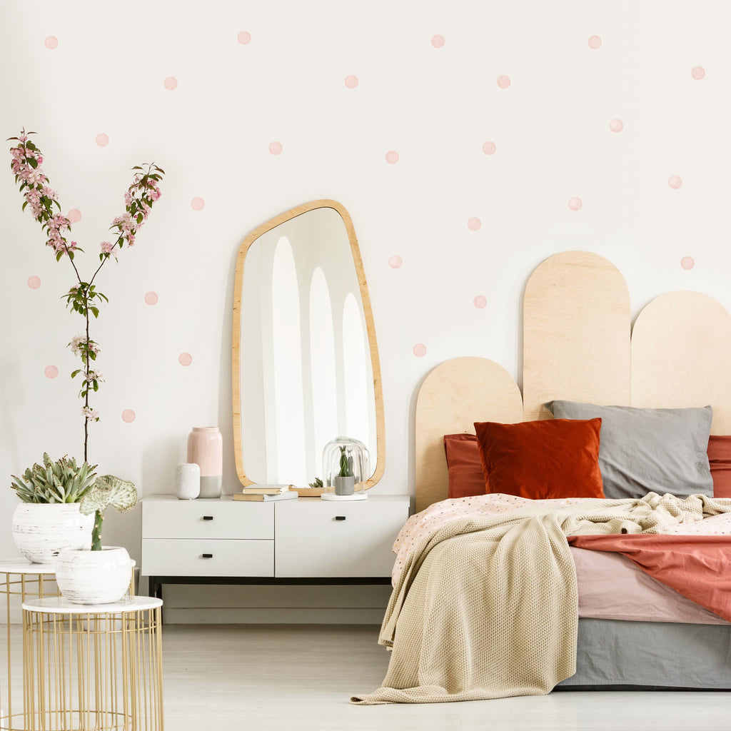 Muted Pink Watercolour Polka Dot Wall Stickers, 6 cm, wall decals by Made of Sundays