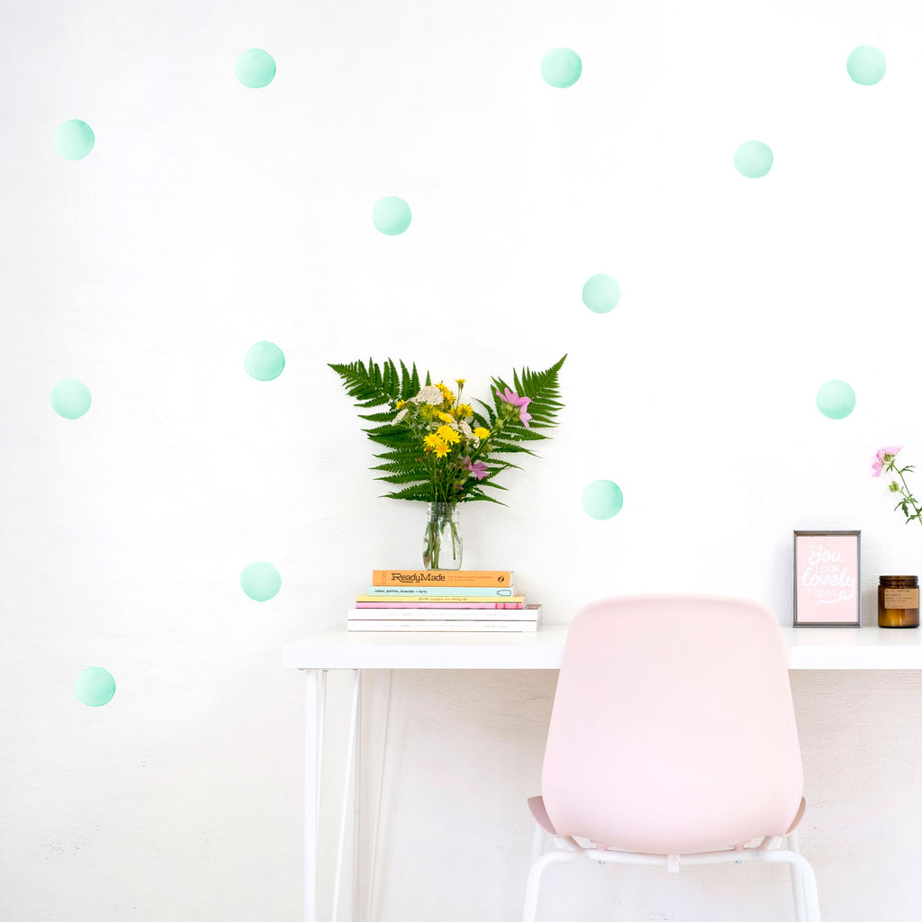 Watercolour Polka Dots 6 cm, wall decals by Made of Sundays