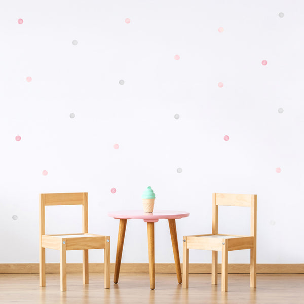Watercolour Polka Dots 3.5 cm, wall decals by Made of Sundays