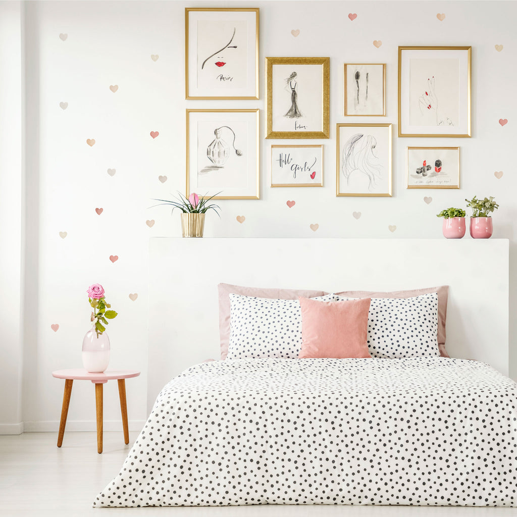 Ombre Watercolor Hearts, wall decals by Made of Sundays