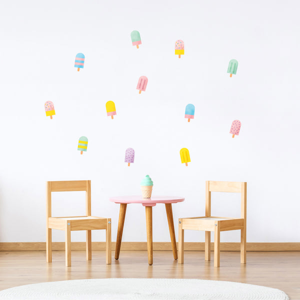 Colorful Popsicle Wall Decals, wall decals by Made of Sundays