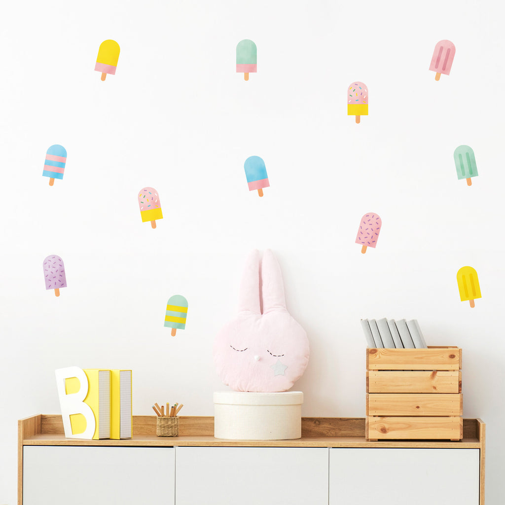 Colorful Popsicle Wall Stickers, wall decals by Made of Sundays