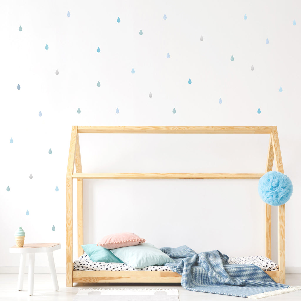 Small Watercolor Raindrops, wall decals by Made of Sundays