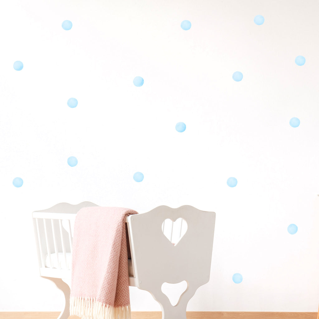 Watercolour Polka Dots Wall Stickers, 3.5 cm, wall decals by Made of Sundays