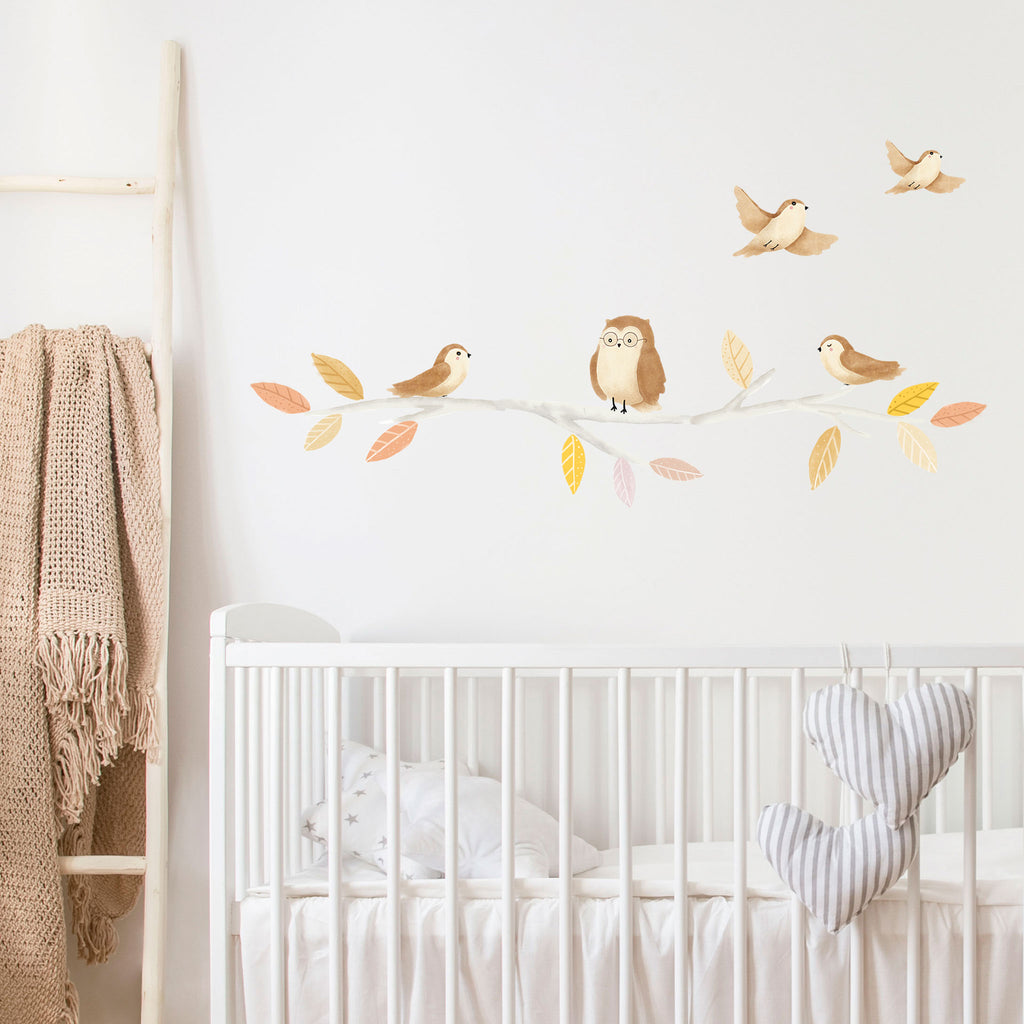 Woodland Birds Wall Stickers, wall decals by Made of Sundays