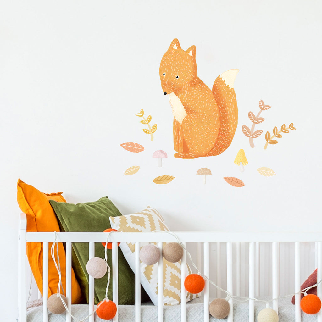 Woodland Fox, Wall Sticker, wall decals by Made of Sundays