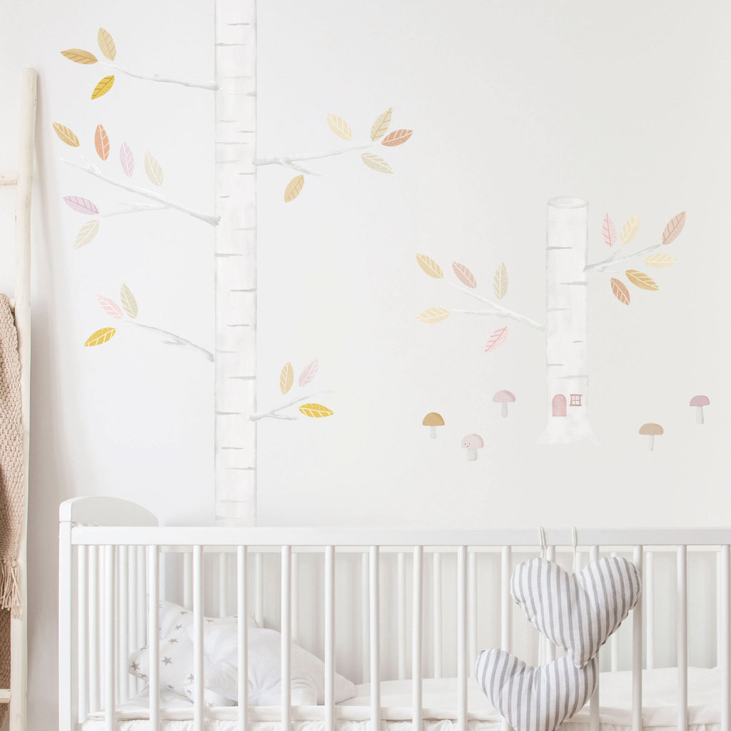 Woodland Autumn Trees Wall Stickers, wall decals by Made of Sundays