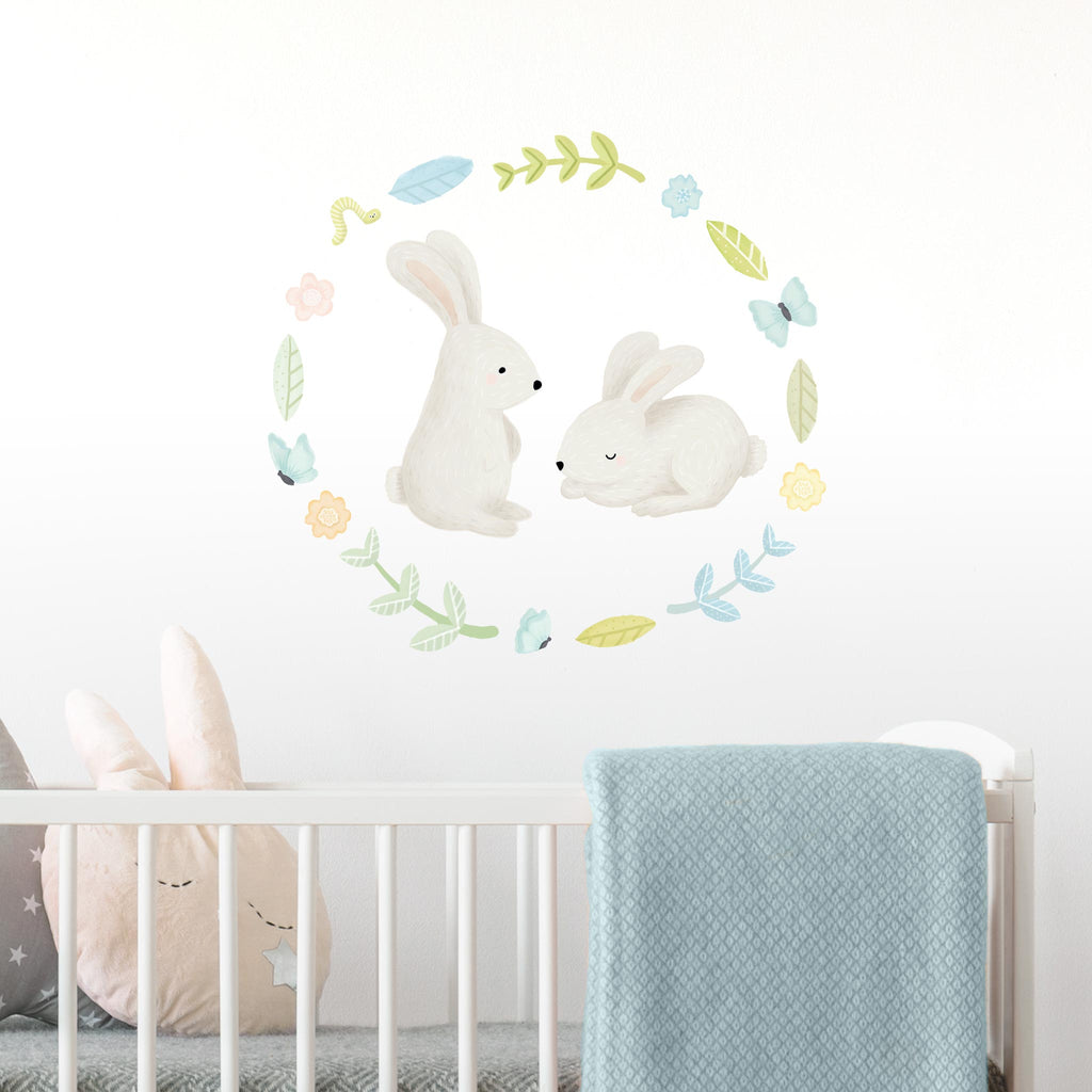 Woodland Spring Bunnies, Wall Stickers, wall decals by Made of Sundays
