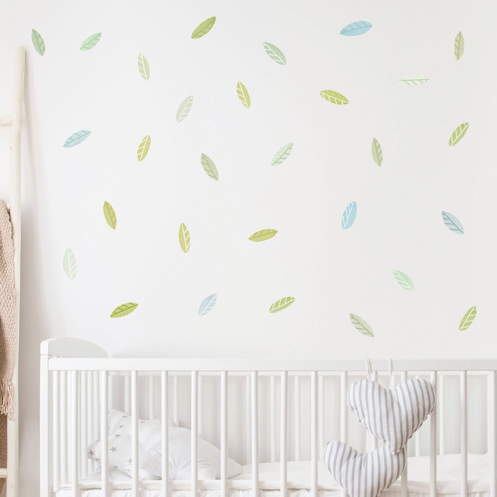 Woodland Spring Leaves Wall Stickers, wall decals by Made of Sundays