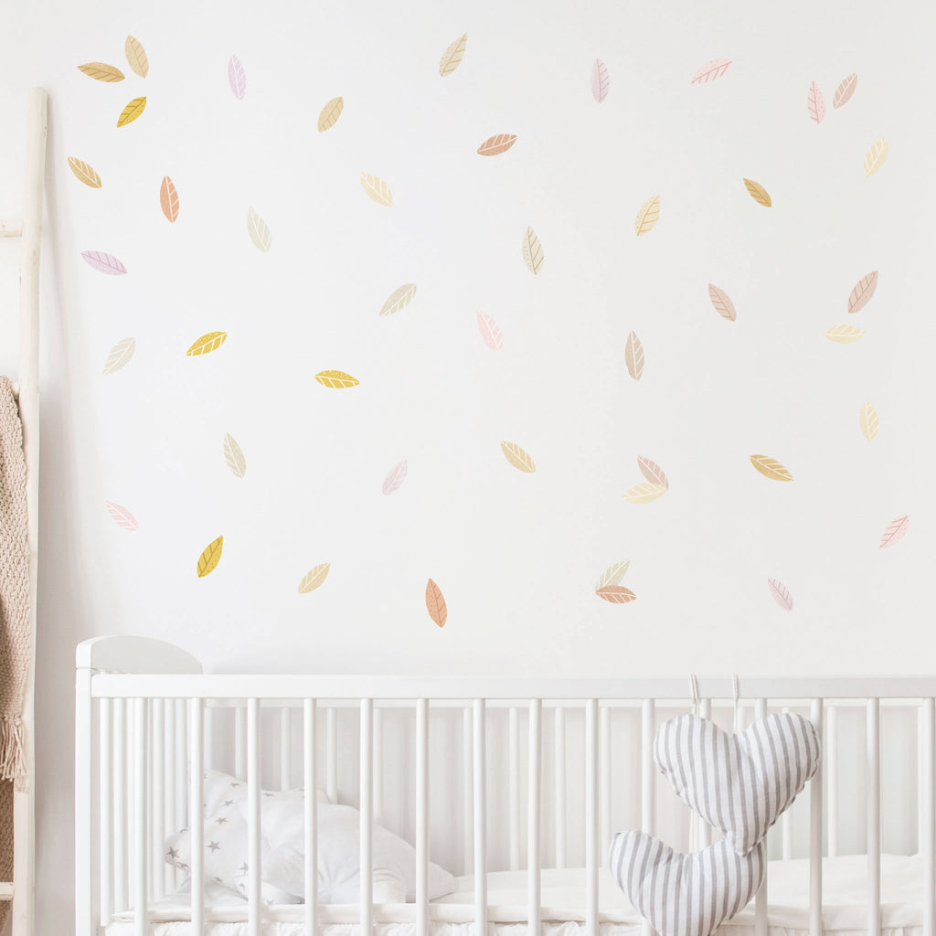 Woodland Autumn Leaves Wall Stickers, wall decals by Made of Sundays