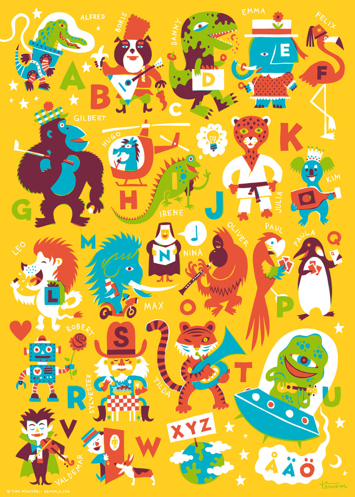 ABC Poster, 50 x 70 cm, Posters & Prints - Made of Sundays