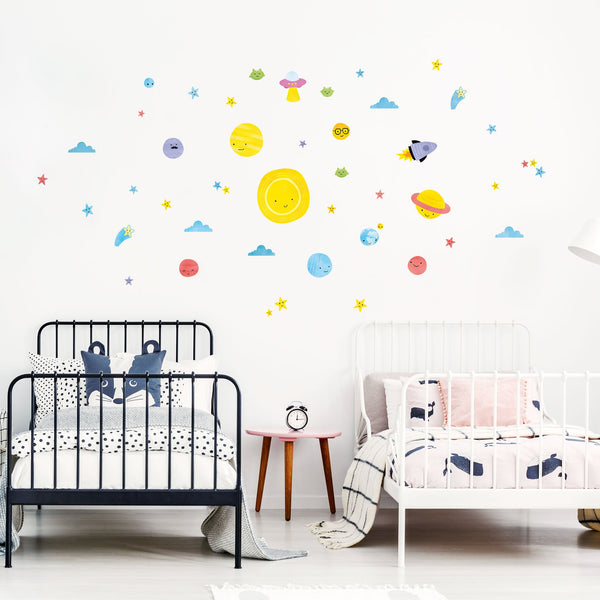 Big Bang Space Theme Pack, wall decals by Made of Sundays
