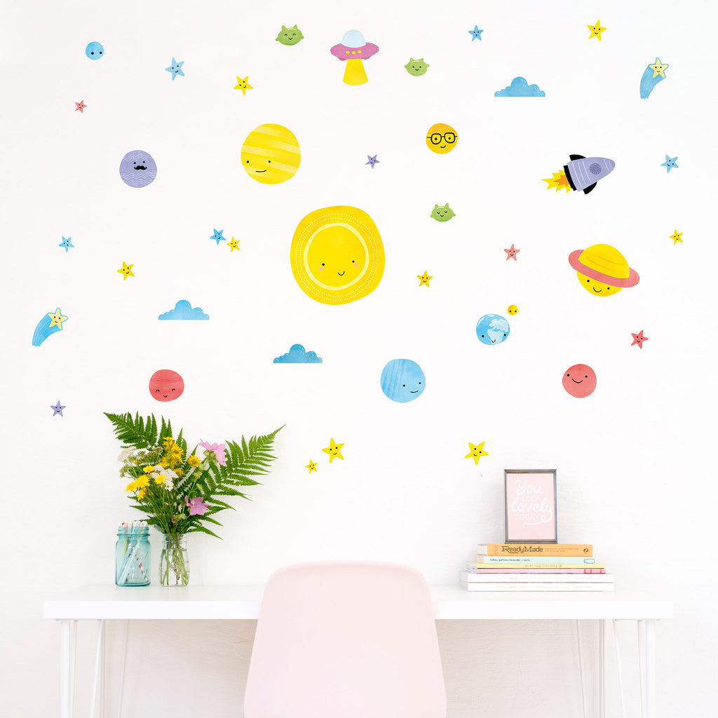 Big Bang Space Wall Stickers Theme Pack