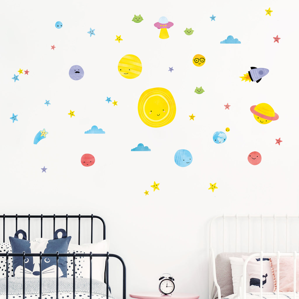 Big Bang Space Wall Stickers Theme Pack, wall decals by Made of Sundays