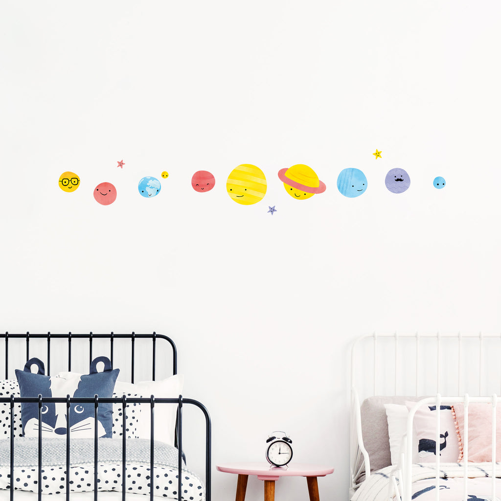 Big Bang Planets Wall Stickers, wall decals by Made of Sundays