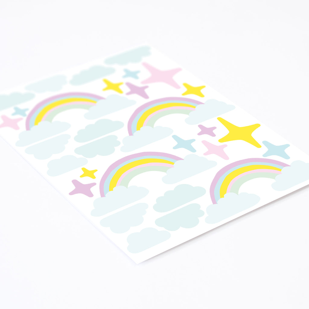 Cake stars & rainbows, wall decals by Made of Sundays