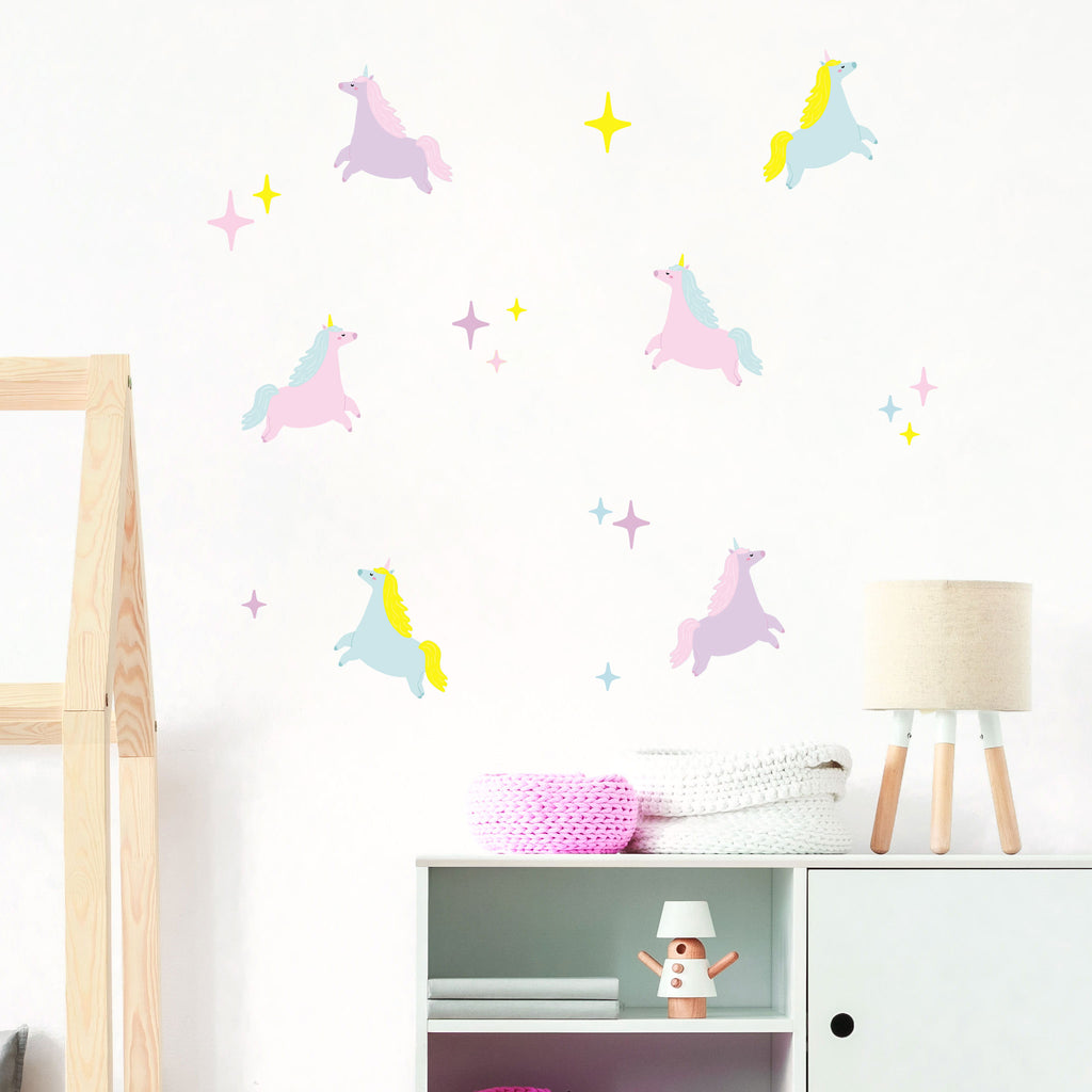 Cake Unicorns Wall Stickers, wall decals by Made of Sundays