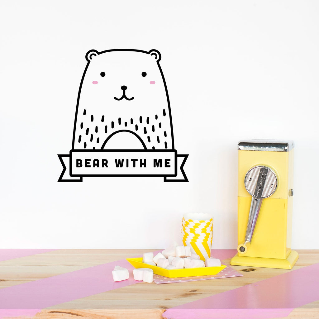 Name Sticker, Haru the Bear, wall decals by Made of Sundays