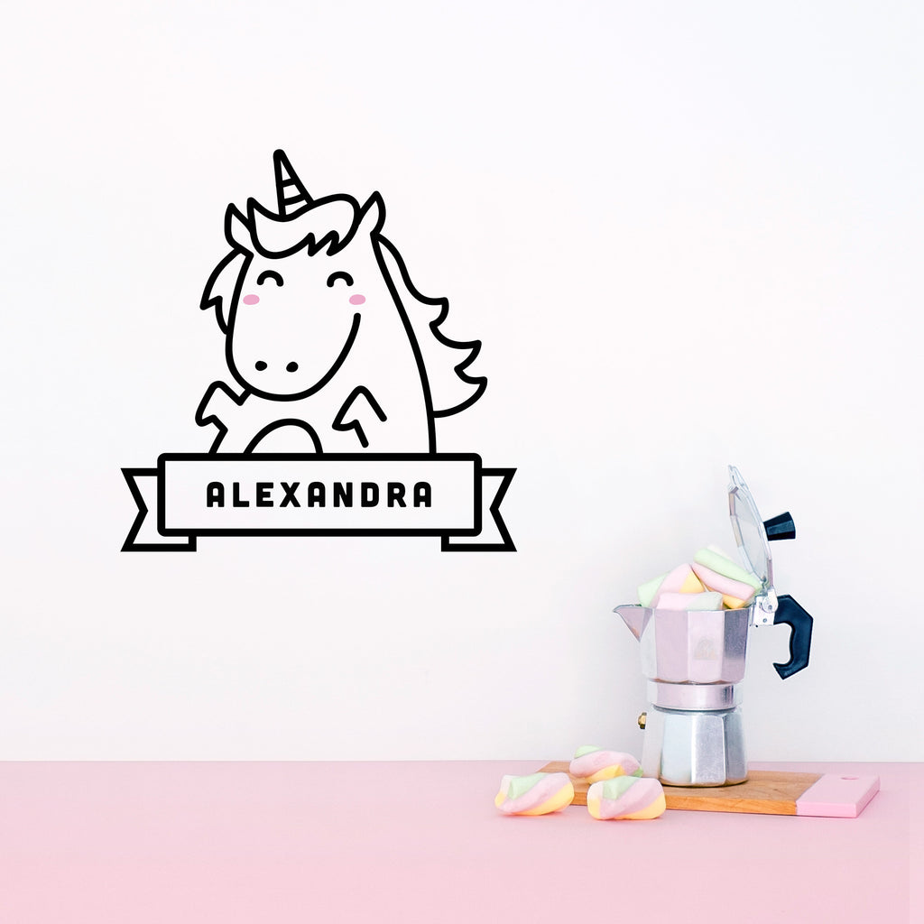 Name Decal, Lola the Unicorn, Wall Decal - Made of Sundays