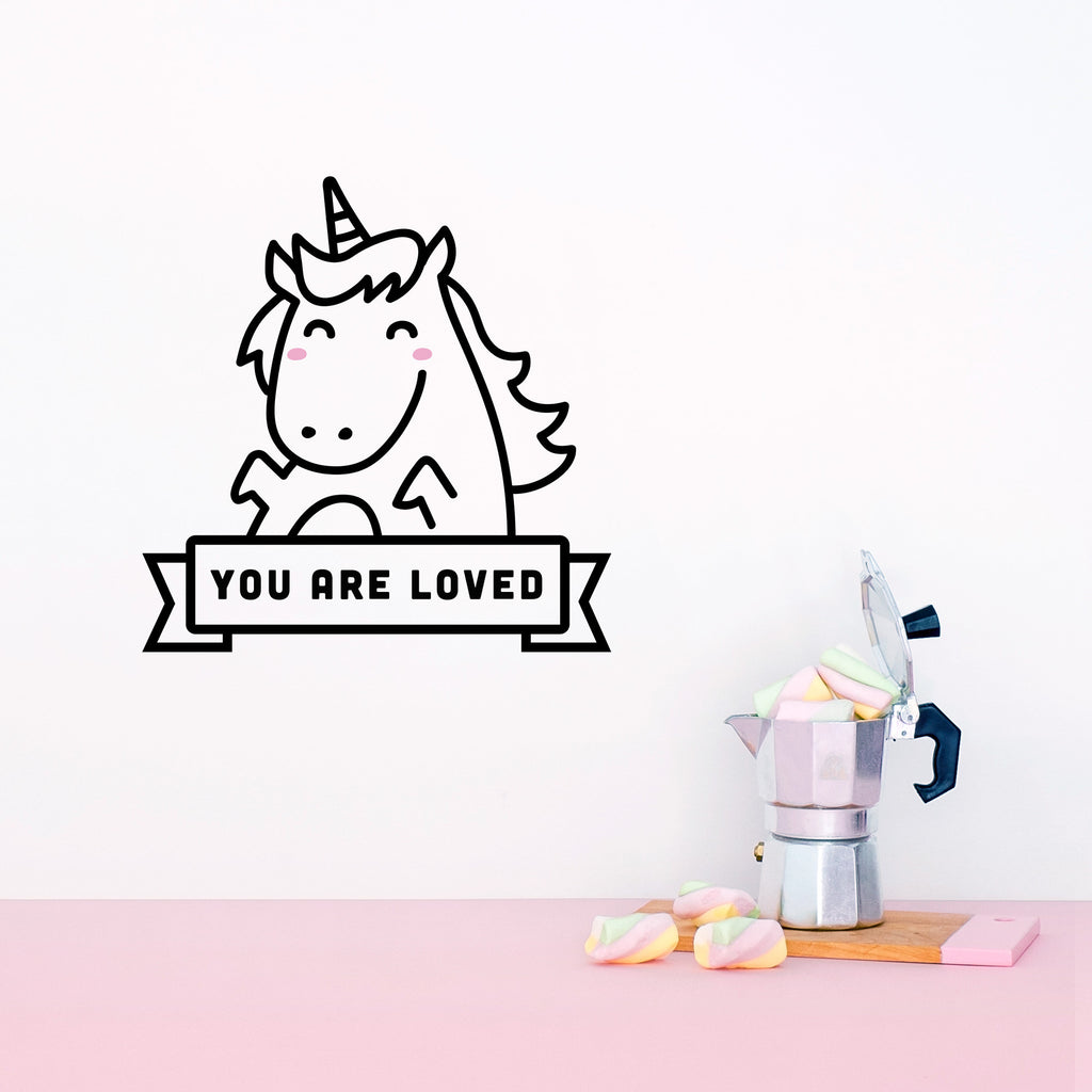 Name Sticker, Lola the Unicorn, wall decals by Made of Sundays