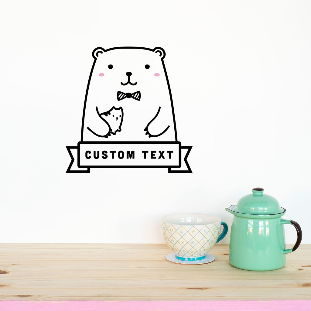 Name Decal, Riku the Bear, wall decals by Made of Sundays