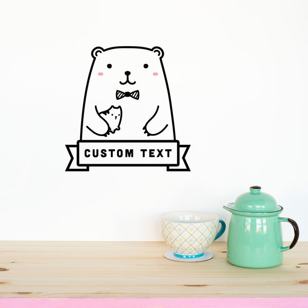 Name Decal, Riku the Bear, Wallpaper Sticker - Made of Sundays