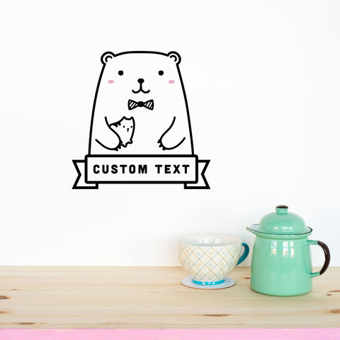 Name decal riku the bear wall decal made of sundays
