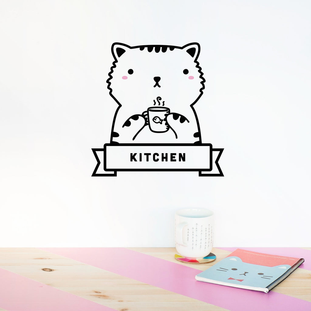 Name Sticker, Sisi the Cat, wall decals by Made of Sundays