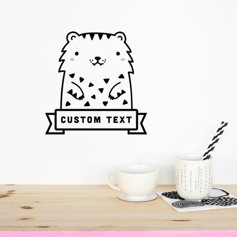 Name Decal, Tofu the Tiger, Wall Decal - Made of Sundays