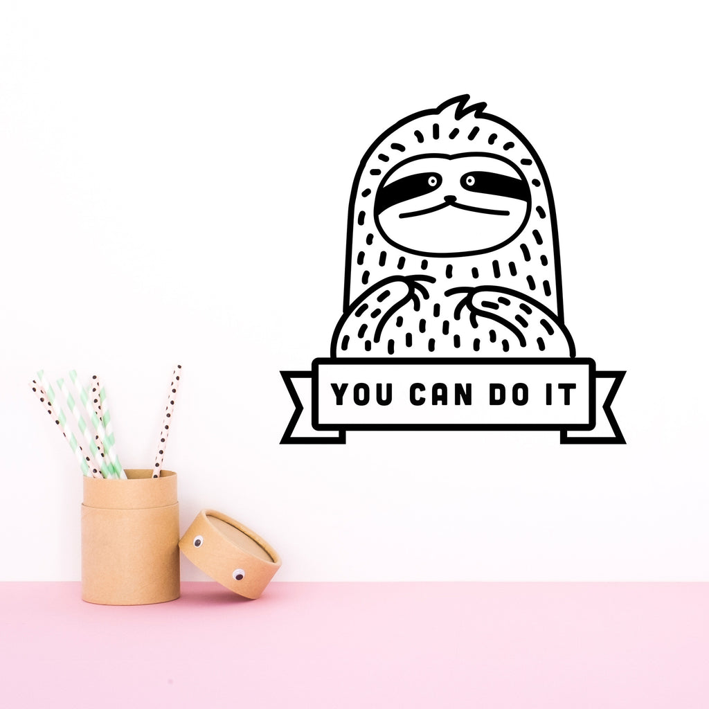 Name Decal, Waffles the Sloth, Wall Decal - Made of Sundays