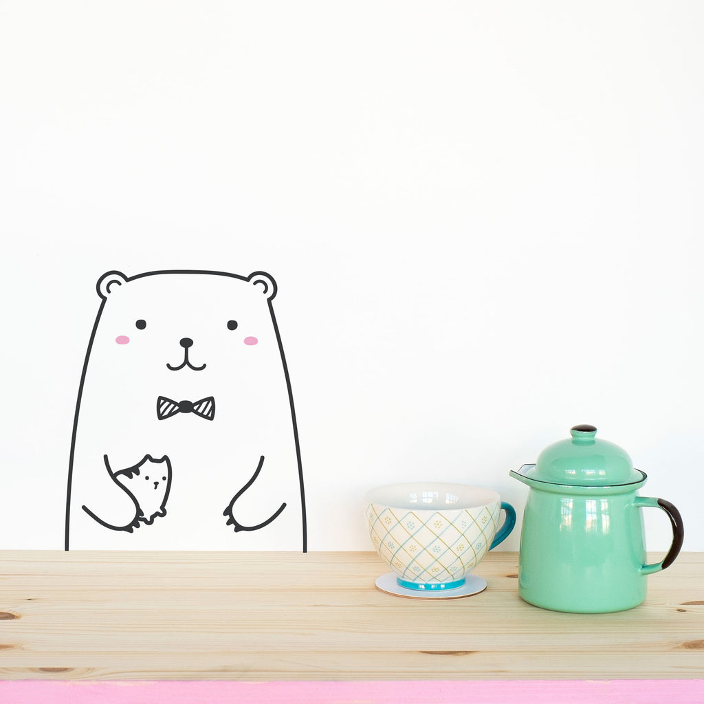 Riku the Bear, Small, wall decals by Made of Sundays