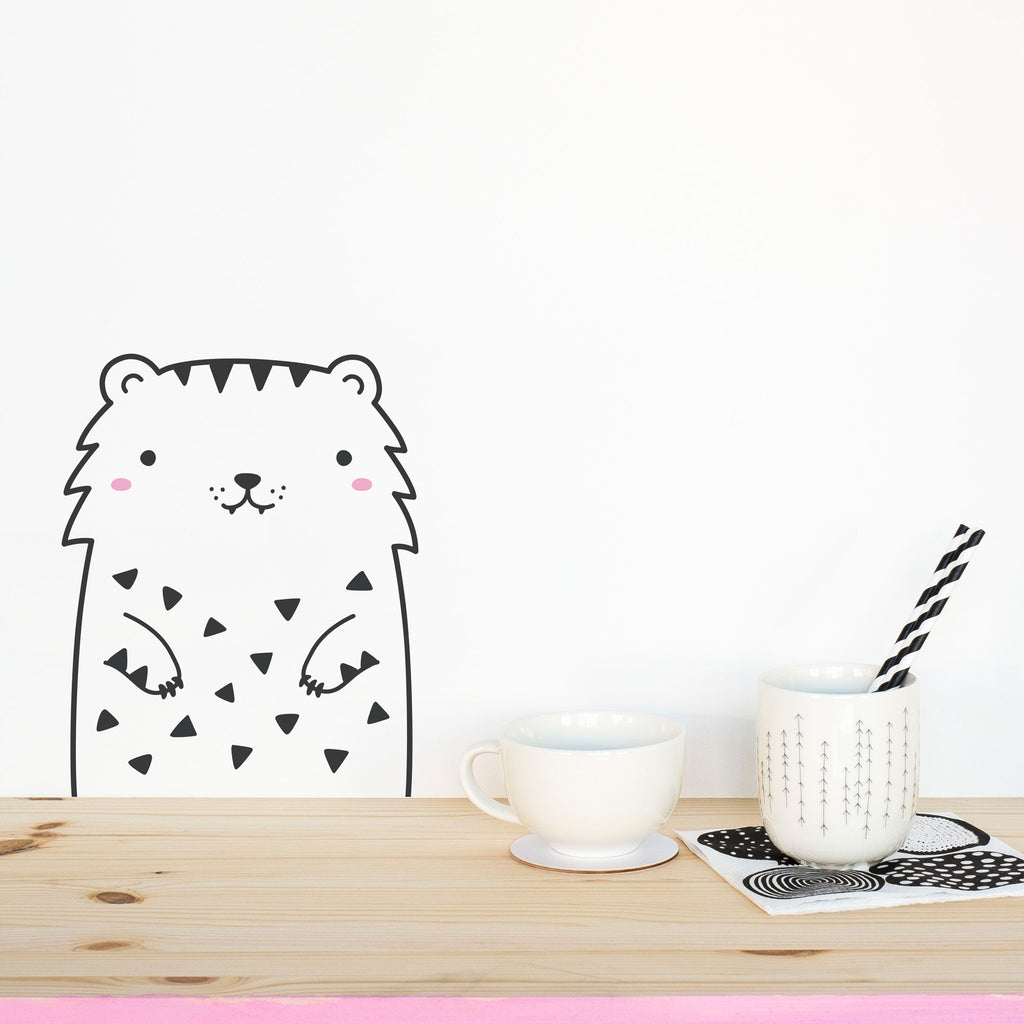 Tofu the Tiger, Small, wall decals by Made of Sundays