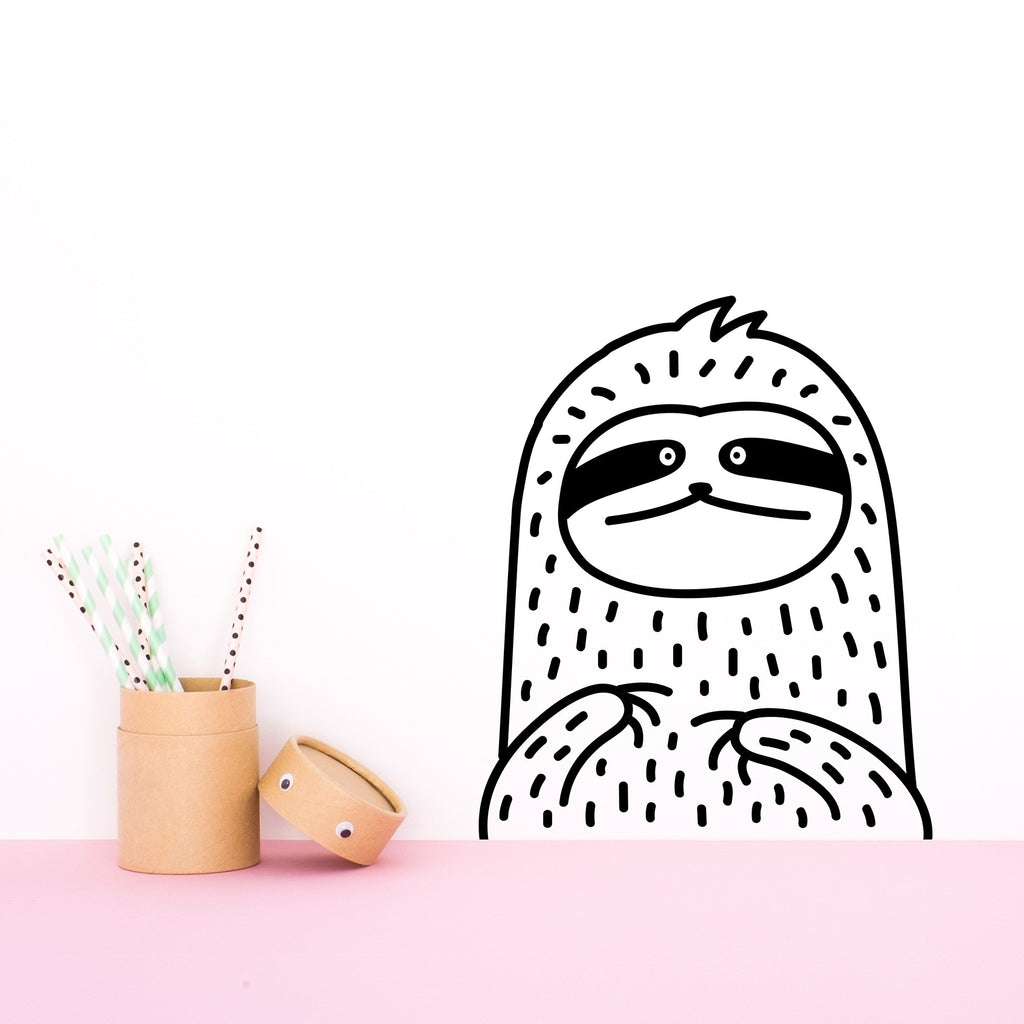 Waffles the sloth small wallpaper sticker made of sundays