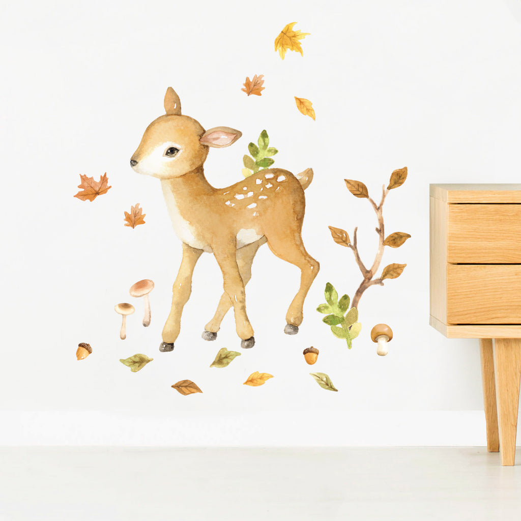 Forest Friends Deer Wall Stickers, wall decals by Made of Sundays