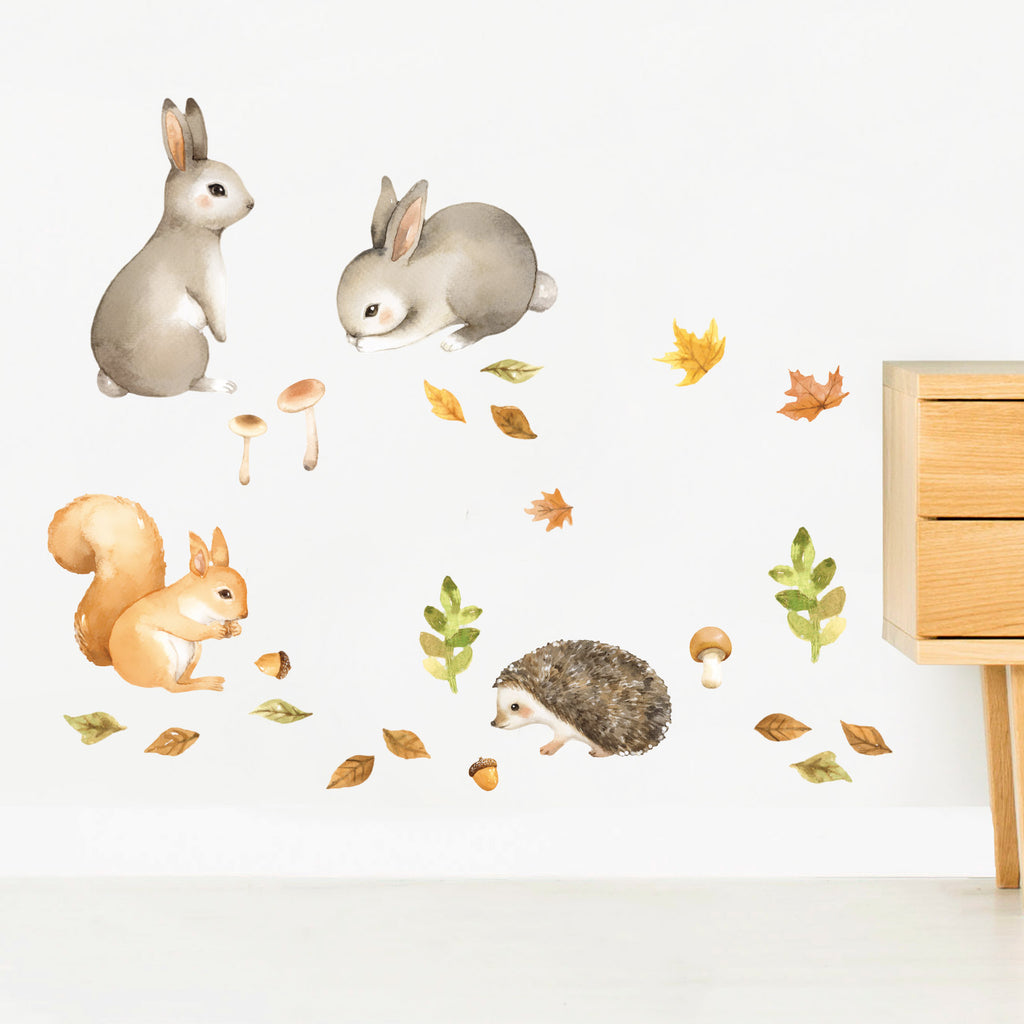 Forest Friends Small Animals Wall Stickers, wall decals by Made of Sundays