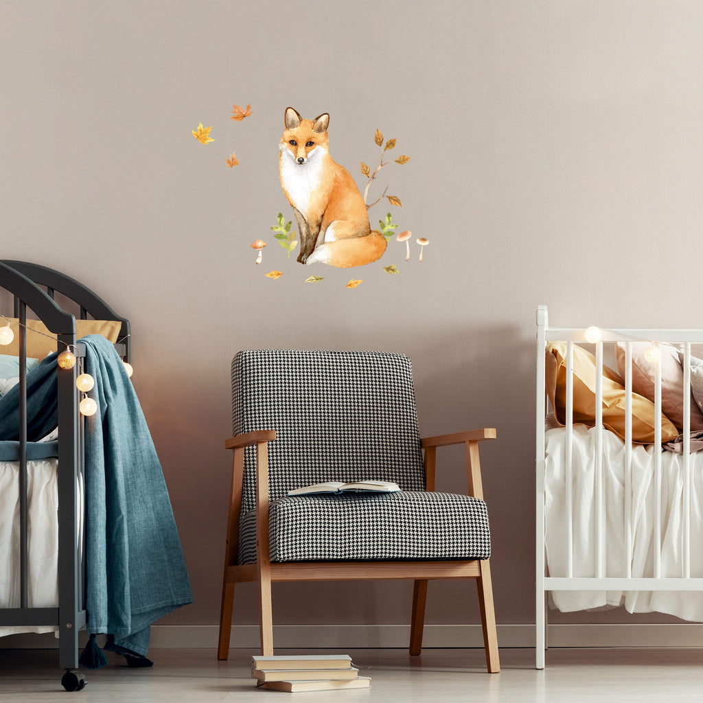 Forest Friends Fox Wall Sticker, wall decals by Made of Sundays