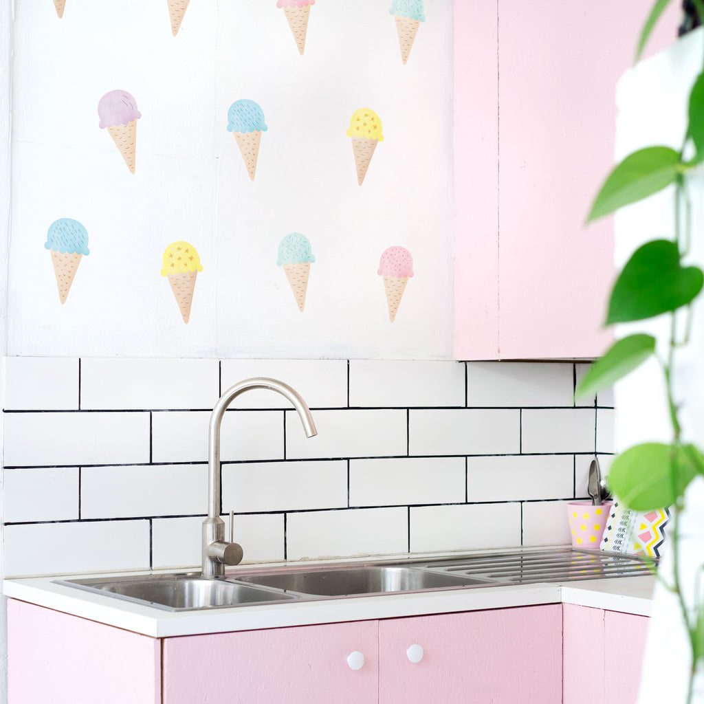 Ice Cream Cones, wall decals by Made of Sundays